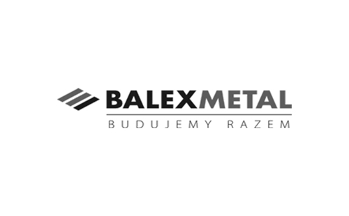 logo of our client, Balex Metal operating in the construction material manufacturing industry, providing solutions for the commercial, residential and agricultural construction sectors