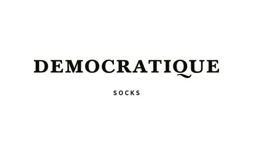 logo of danish socks producer Democratique